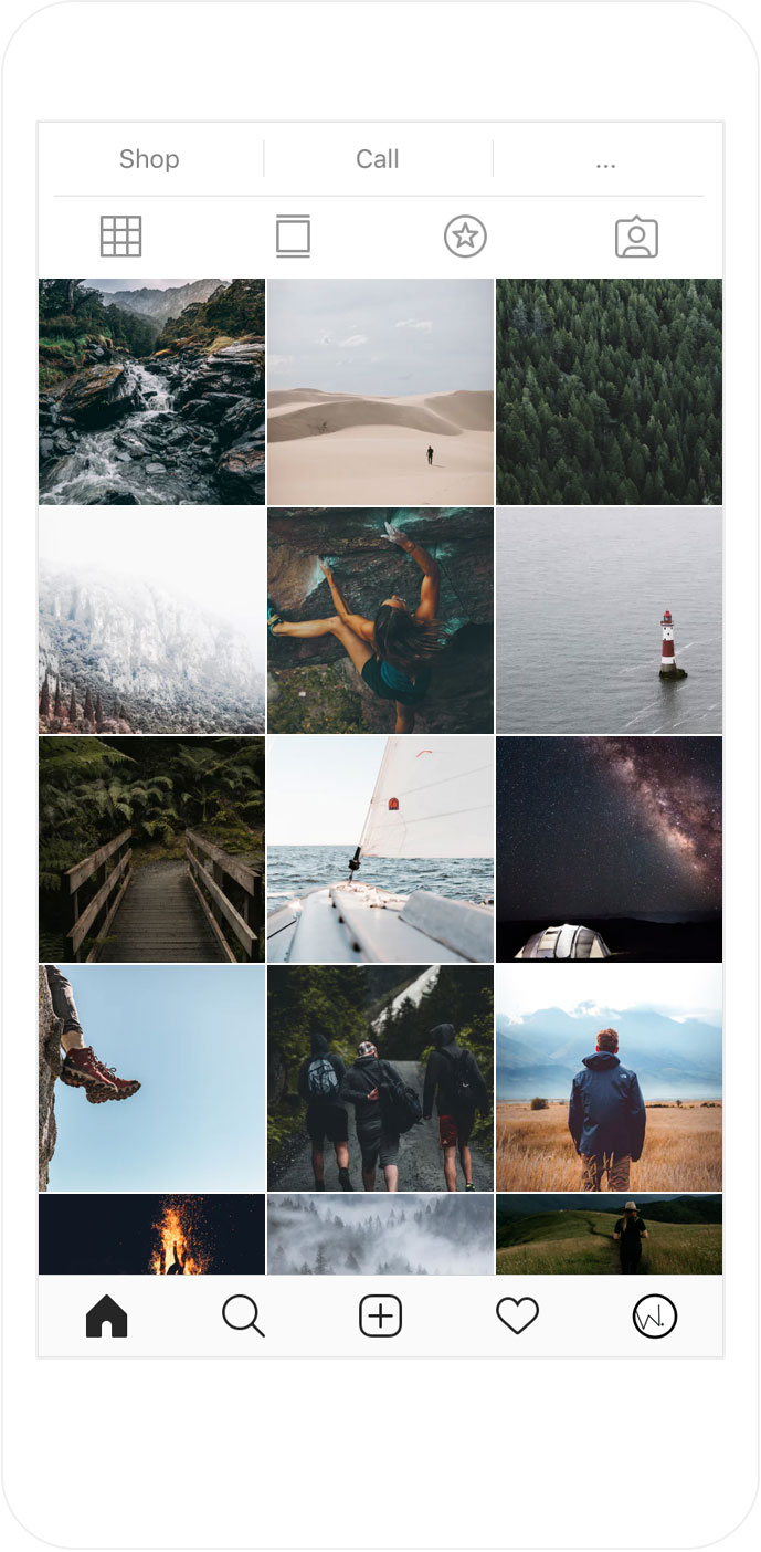 Style your instagram feed: checkerboard