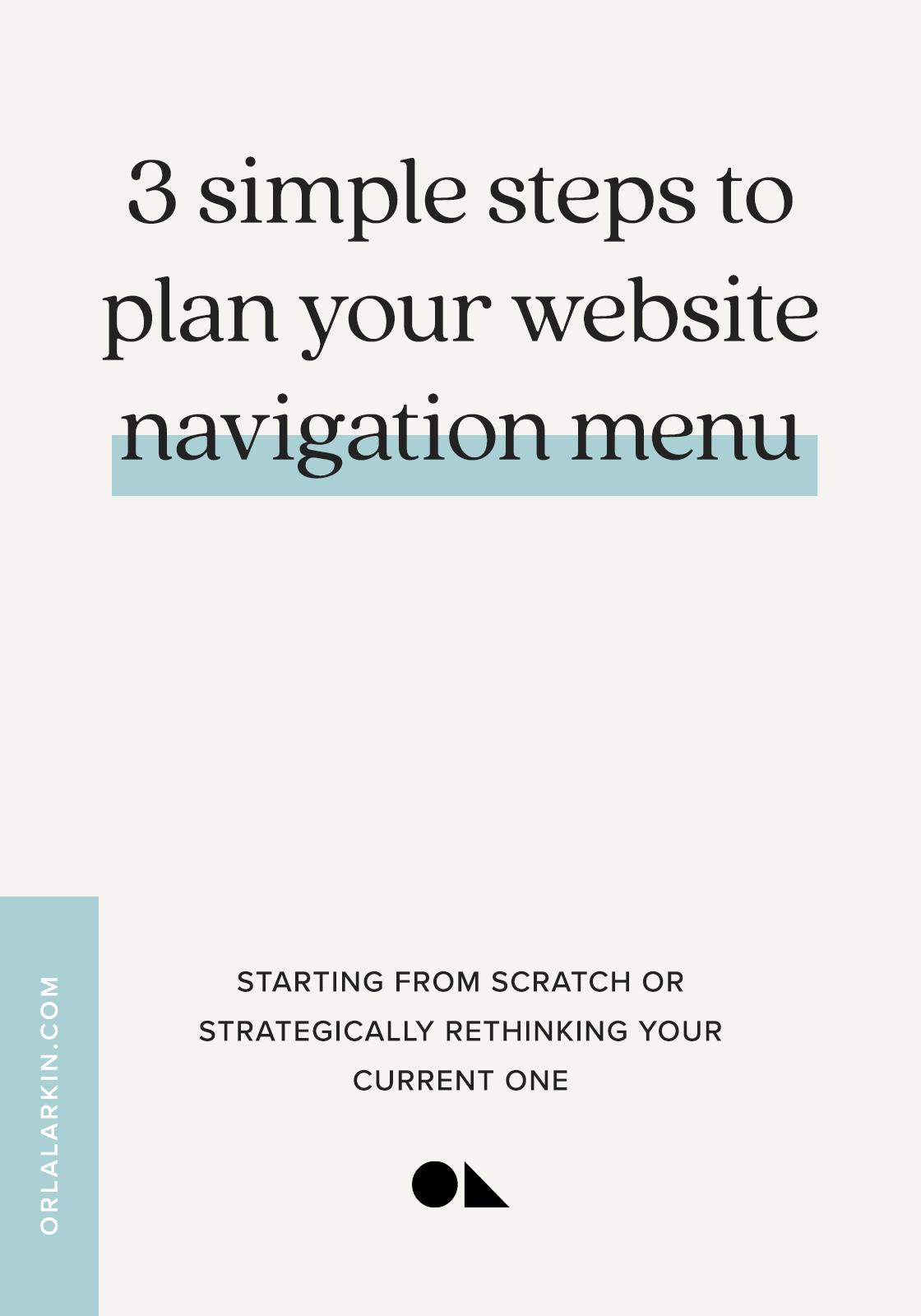 3 simple steps to plan your website navigation menu